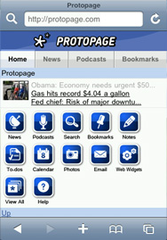 Protopage Mobile