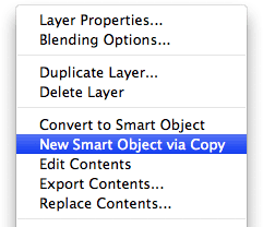 New Smart Object via Copy
