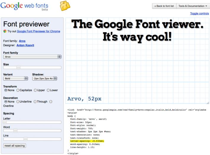 Google Font Previewer