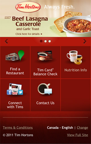 Tim Hortons Mobile